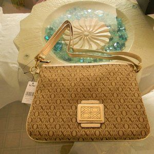 XOXO Gold Crossbody Handbag NEW